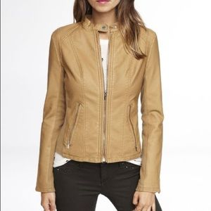 EXPRESS faux tan leather jacket